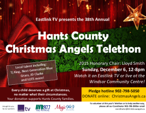 Christmas Angels Telethon @ Hants Community War Memorial Center | Windsor | Nova Scotia | Canada