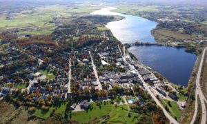 Aerial image town of Windsor NS